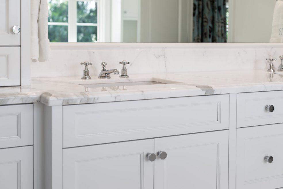 Traditional White Master Bathroom